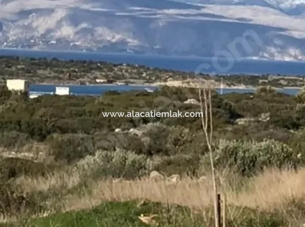 Çeşme Dalyan' Da Deniz Manzaralı Arsa